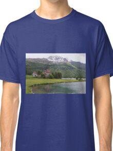 Crap da Sass Castle and Lake Silvaplana Classic T-Shirt