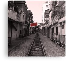 Rail Track, Hanoi in Vietnam. Canvas Print