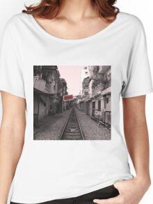 Rail Track, Hanoi in Vietnam. Women's Relaxed Fit T-Shirt