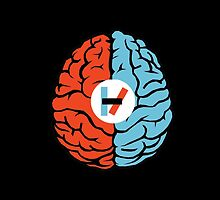 Twenty One Pilots Split Brain And Logo by Hannah Marland