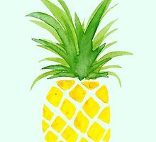 Watercolor Pineapple by jana95s