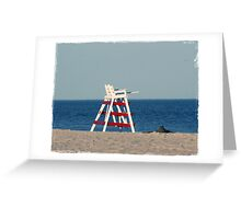Empty Lifegaurd Greeting Card