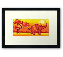 African Elephant at sunset - over 900 viewings! Framed Print