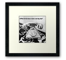 LET'S TALK! Framed Print