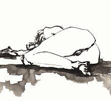 Female Nude on Floor by Jaelah