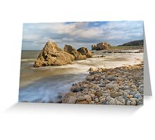 Incoming Tide at Trow Quarry Beach, South Shields, Tyne and Wear Greeting Card