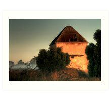 Golden Light on the Chicory Kiln Art Print