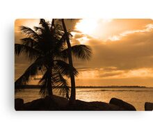 Sunset in Puerto Rico Canvas Print