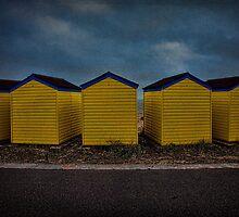 Beach Huts 6 through 10 by Chris Lord