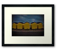 Beach Huts 6 through 10 Framed Print