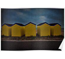 Beach Huts 6 through 10 Poster