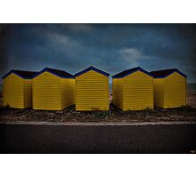 Beach Huts 6 through 10 Photographic Print