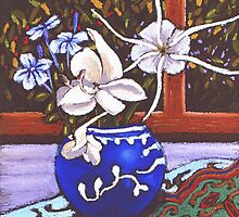 Spider flowers in the ginger jar by maria paterson