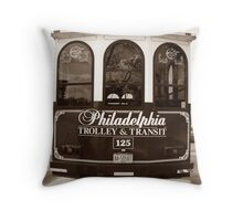 Trolley Good Times Throw Pillow