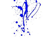 Blue and White Paint Splat No.1 Photographic Print