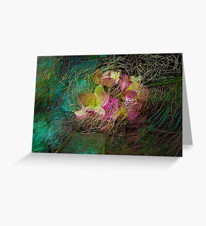 Gestural Hydrangea Greeting Card