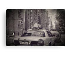 Hey Taxi Canvas Print