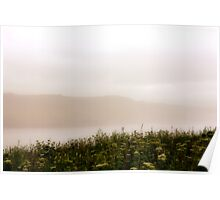 Grey Foggy Day - Lord's Cove, Newfoundland Poster