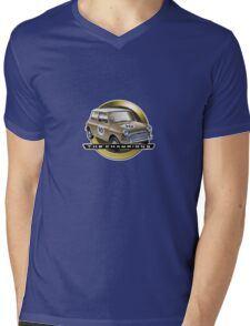 Mini gold Mens V-Neck T-Shirt