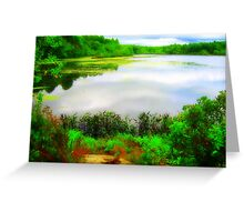 Pachaug Pond, Griswold, CT Greeting Card