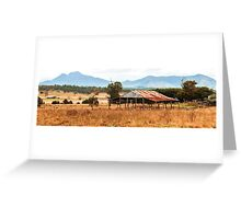 Abandoned building in the outback. Greeting Card