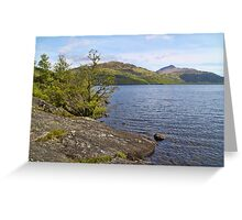 Loch Lomond Landscape, Scotland Greeting Card