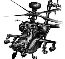 Ah-64D Apache Longbow by olivercook