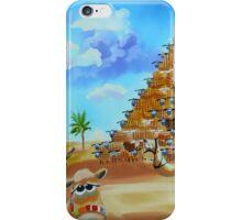 Pyramid of Giza made of sheep iPhone Case/Skin