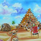 Pyramid of Giza made of sheep by gordonbruce