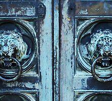 Lion Head Doorknockers by Mattie Bryant