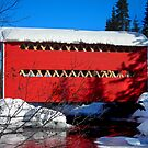 Red Covered Bridge by Juergen Weiss