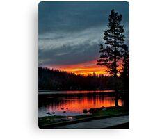 Mirror Lake Sunset Canvas Print