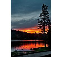 Mirror Lake Sunset Photographic Print