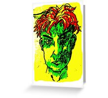 Red Head Punk Greeting Card