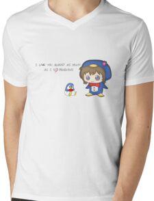 Love Penguins Mens V-Neck T-Shirt