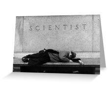 Bum, Museum of Science, New York, New York Greeting Card