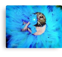 Blue Cinderella Canvas Print