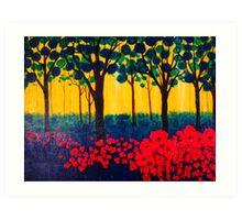 The Poppy Grove Art Print