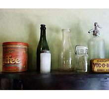 Bottles and a Coffee Can Photographic Print