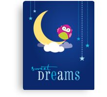 OWL SERIES :: sweet dreams 1 Canvas Print