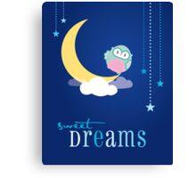 OWL SERIES :: sweet dreams 3 Canvas Print