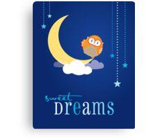 OWL SERIES :: sweet dreams 4 Canvas Print