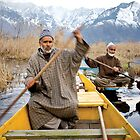 Kashmir Boatmen on Dal Lake by crowdedstudios