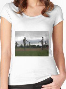 Heavy Metal-  The Tinnies -Strabane Tyrone Ireland Women's Fitted Scoop T-Shirt
