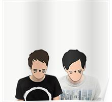 Dan & Phil - Cartoon Faces Poster