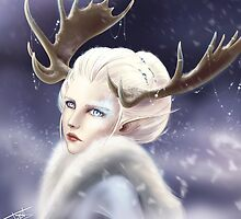 Ice elven by tiphs