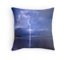 Lightning in Bali Throw Pillow