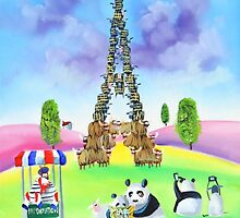 The Eiffel tower made of sheep by gordonbruce