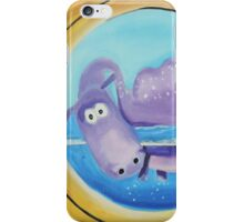 Loch Ness moster looking through a port hole iPhone Case/Skin