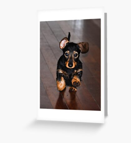 ...and i ran as fast as my little legs would carry me Greeting Card